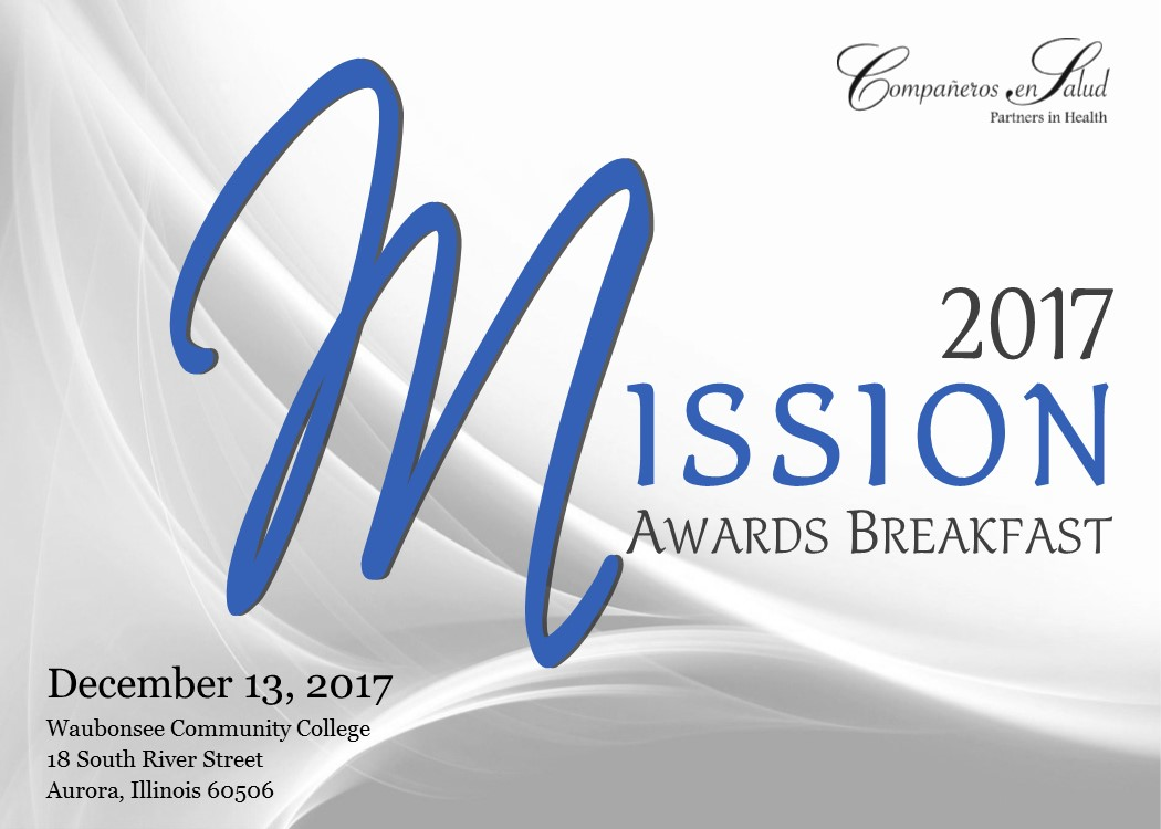 2017 Mission Awards Mailer Front Page